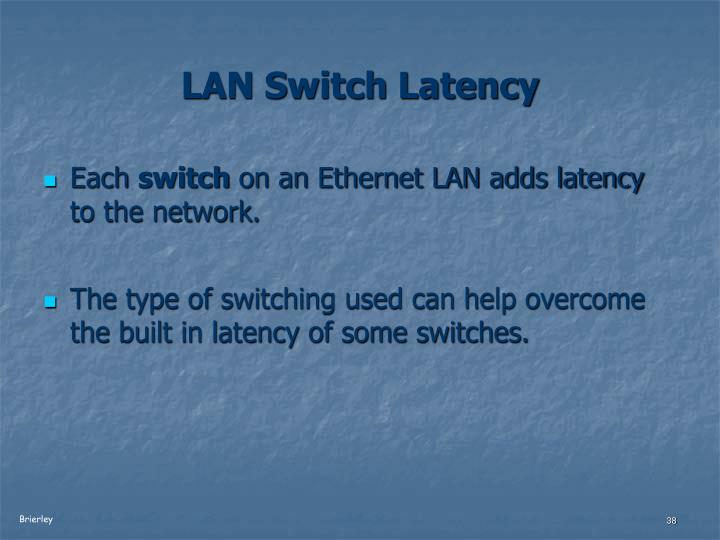 LAN Switch Latency