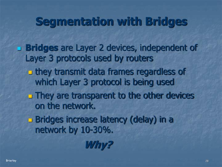 Segmentation with Bridges