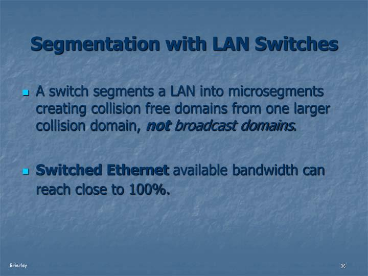 Segmentation with LAN Switches