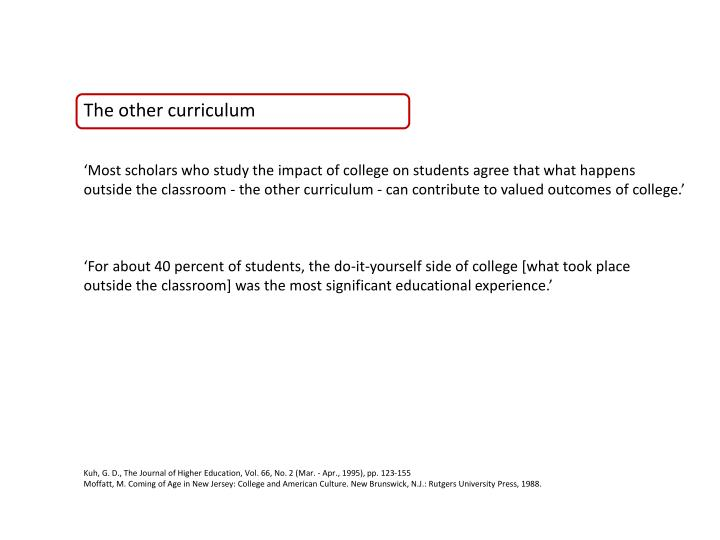 The other curriculum