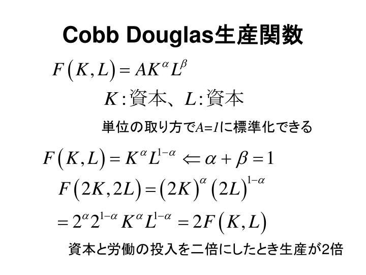 Cobb Douglas