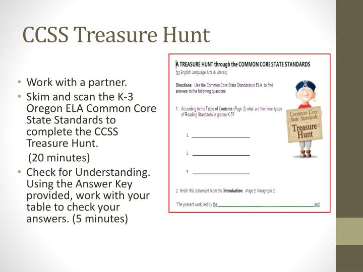 CCSS Treasure Hunt