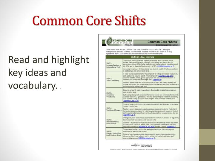 Common Core Shifts