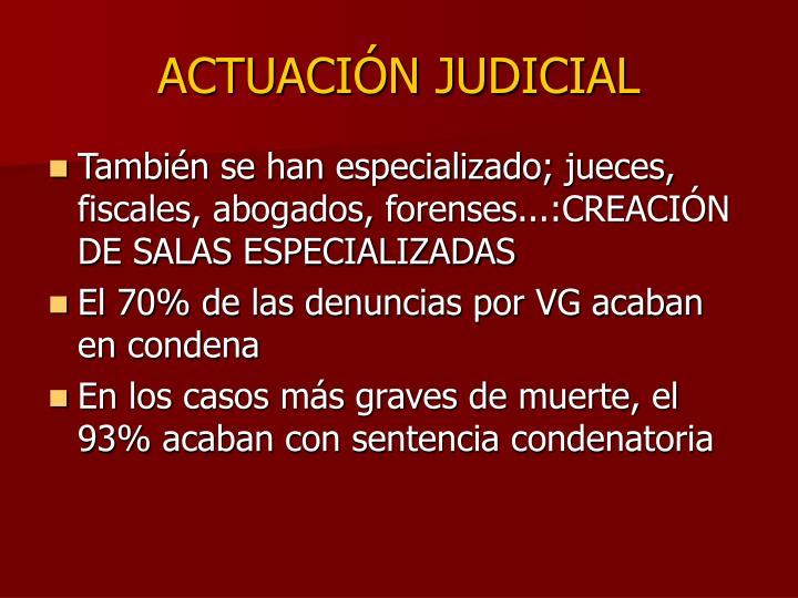 ACTUACIÓN JUDICIAL