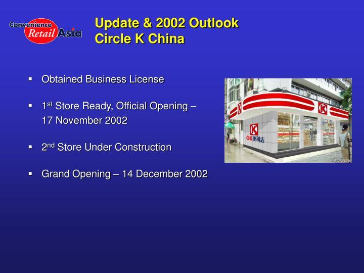 Update & 2002 Outlook