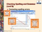 checking spelling and grammar cont d2