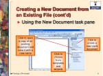 creating a new document from an existing file cont d1