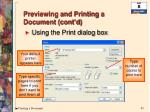 previewing and printing a document cont d3