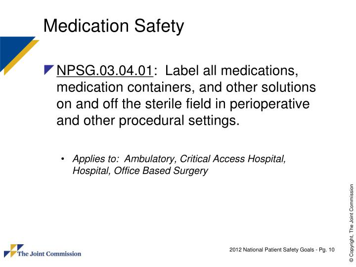 Medication Safety