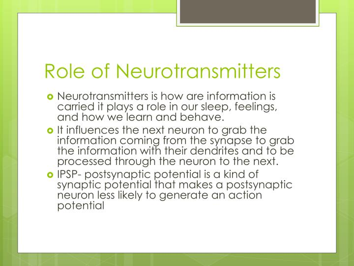 Role of Neurotransmitters