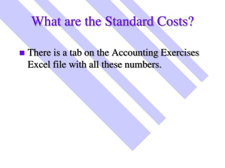 What are the Standard Costs?