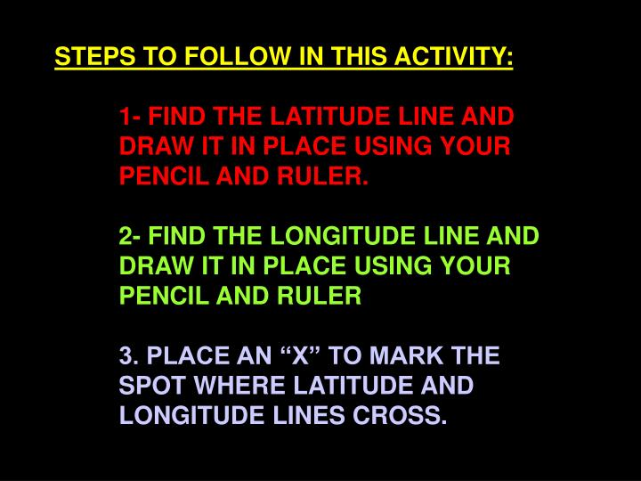 STEPS TO FOLLOW IN THIS ACTIVITY: