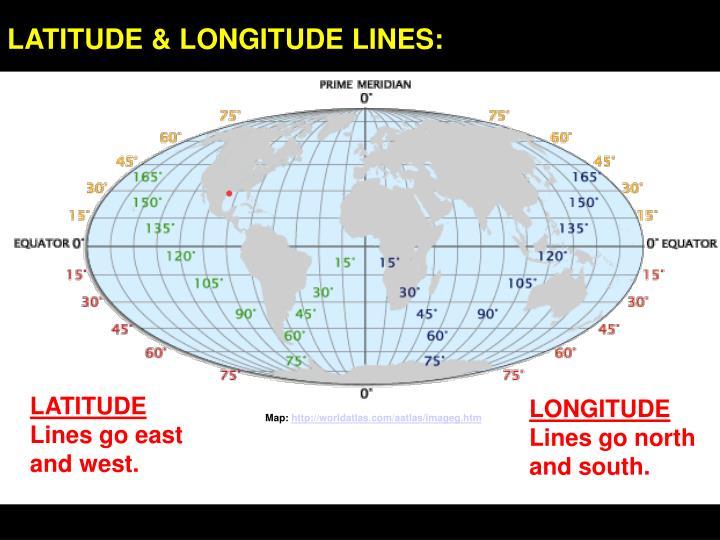 LATITUDE & LONGITUDE LINES: