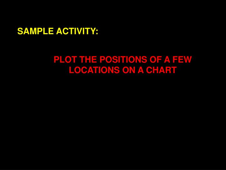 SAMPLE ACTIVITY: