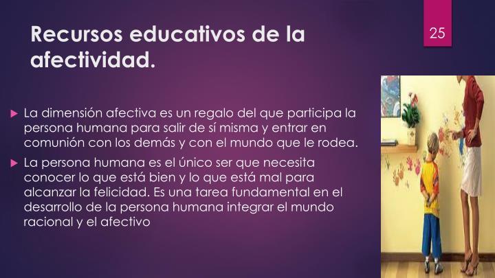 Recursos educativos de la afectividad.