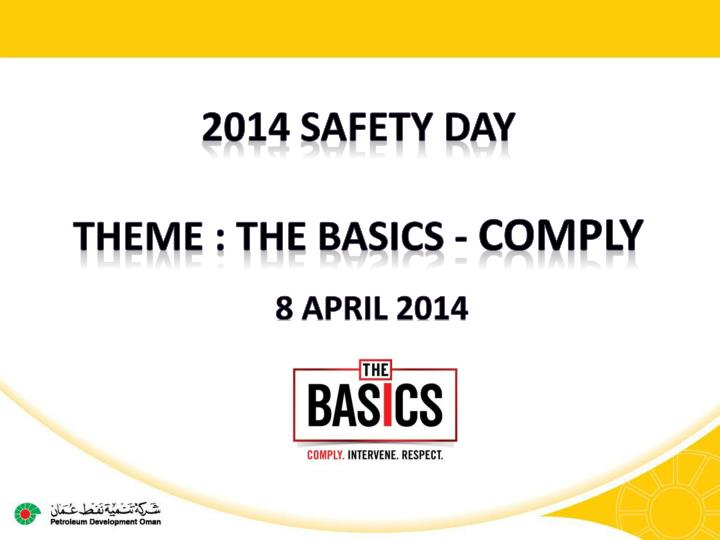 2014 Safety DAY