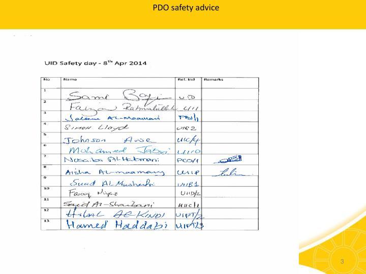 PDO safety