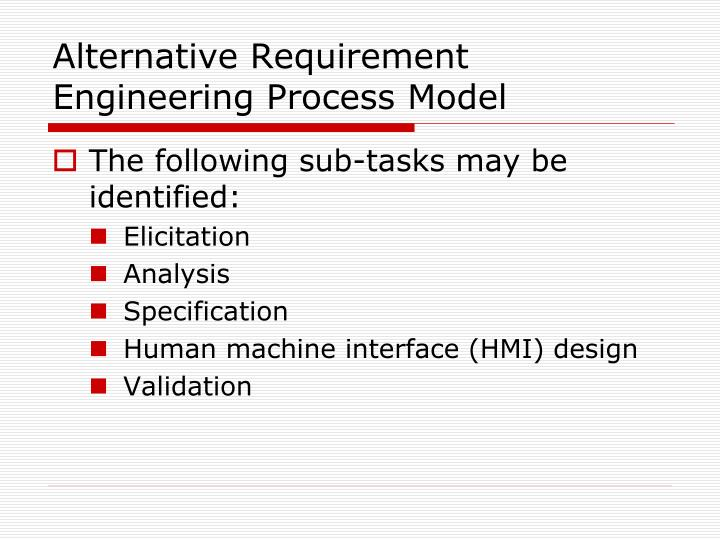 Alternative Requirement Engineering Process Model