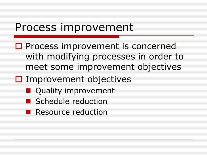 Process improvement