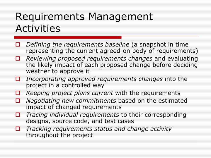 Requirements Management Activities