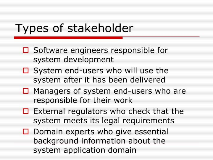 Types of stakeholder