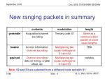 new ranging packets in summary