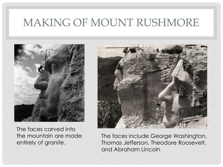 Making of Mount Rushmore