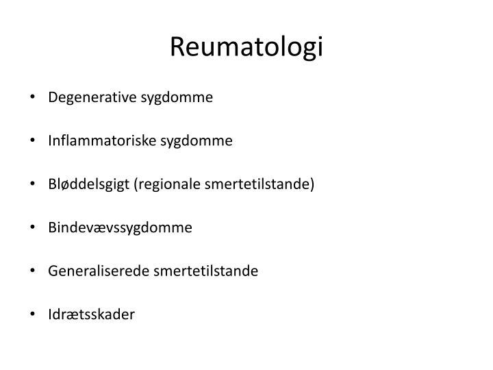 Reumatologi