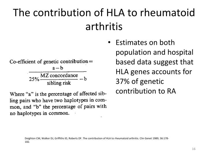 The contribution of HLA to rheumatoid arthritis