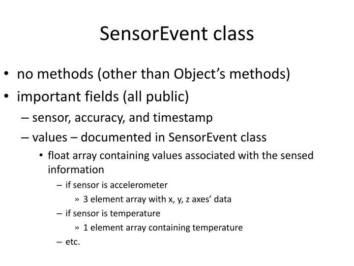 SensorEvent
