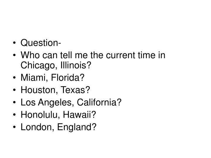 Question-