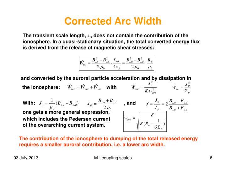 Corrected Arc Width
