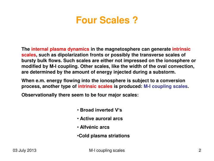 Four scales