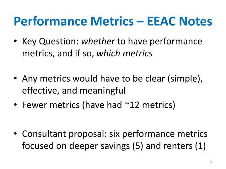 Performance Metrics – EEAC Notes