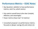 performance metrics eeac notes