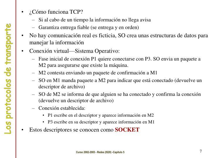 ¿Cómo funciona TCP?
