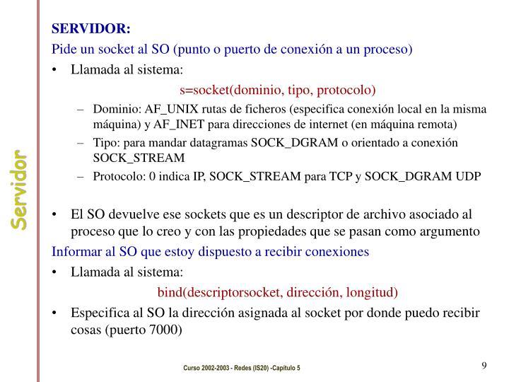 SERVIDOR:
