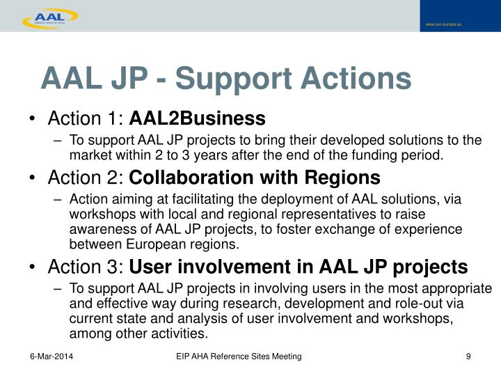 AAL JP - Support Actions