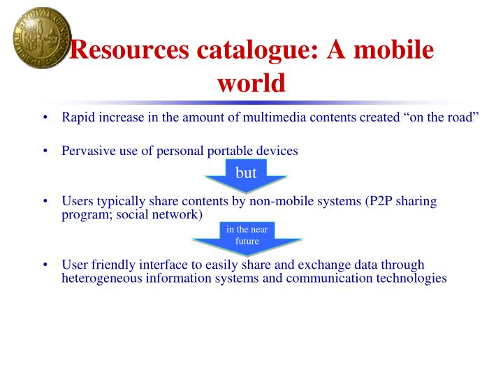 Resources catalogue: