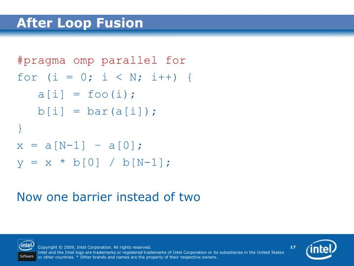 After Loop Fusion