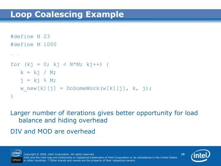 Loop Coalescing Example