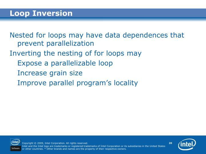 Loop Inversion