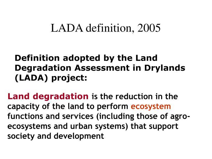 LADA definition, 2005