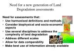need for a new generation of land degradation assessments