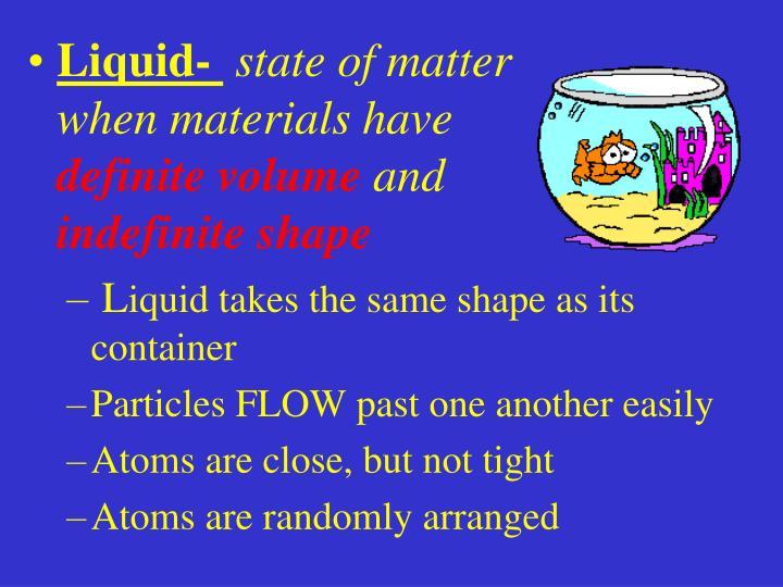 Liquid-