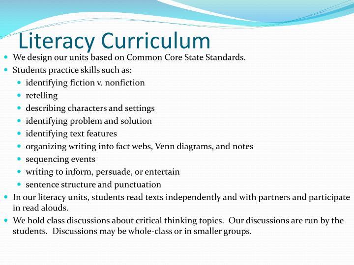 Literacy Curriculum