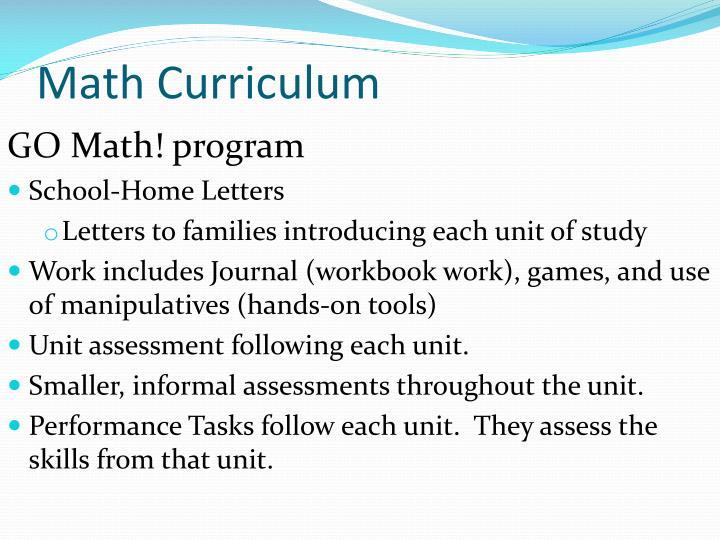 Math Curriculum