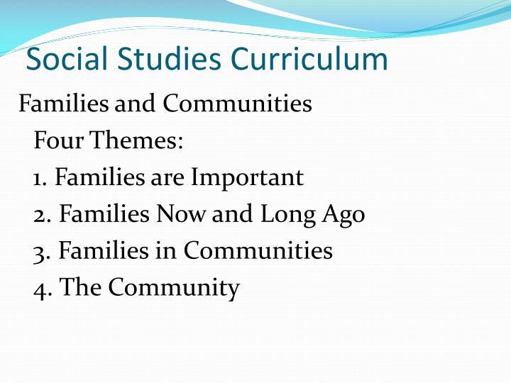 Social Studies Curriculum