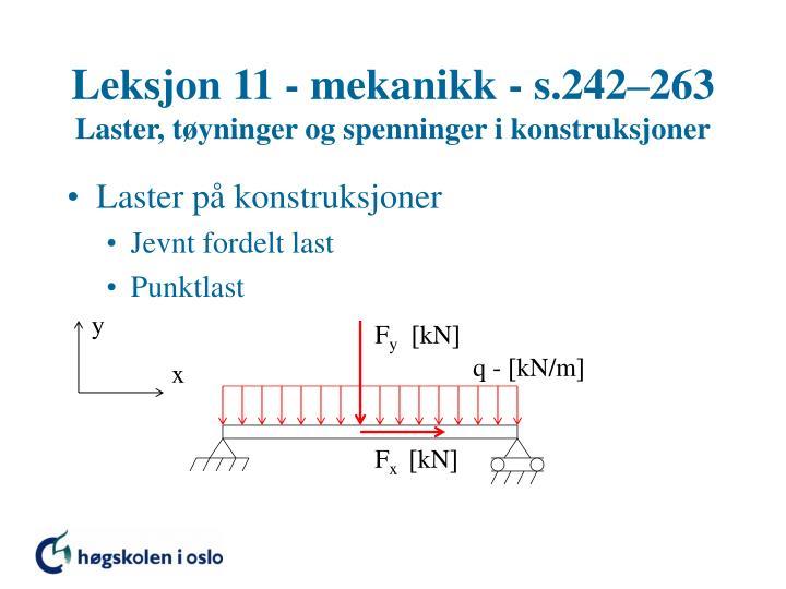Leksjon 11 - mekanikk - s.242–263