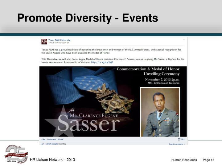 Promote Diversity - Events